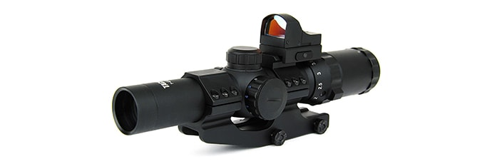TacFire 1-4 x 24mm Tactical Rifle Scope