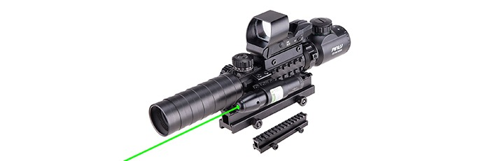 Pinty 3-9x32EG Illuminated Rangefinder Rifle Scope