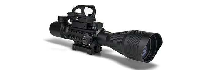 UMsky Tactical Red &Green Mil-dot Illuminated 4-16x50 Rifle Scope